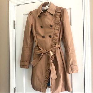 Elevenses Ruffle Trench from Anthropologie